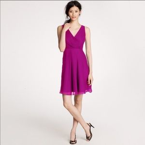 J. Crew Evie Dress in Silk Chiffon